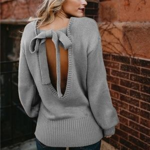 ⚡SALE ⚡Backless Tie Sweater